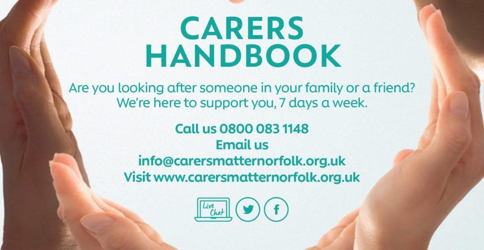 Carers Matter Norfolk Handbook 2020-21 cover