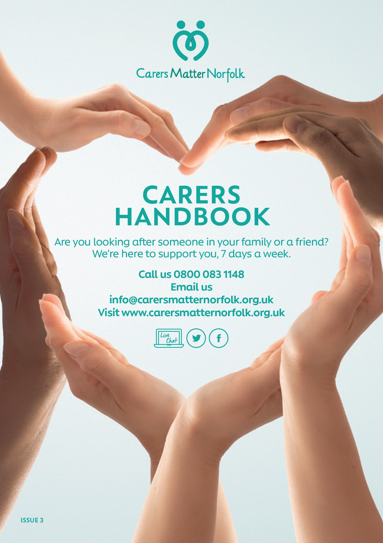 Carers Matter Norfolk Handbook 2020-21 cover