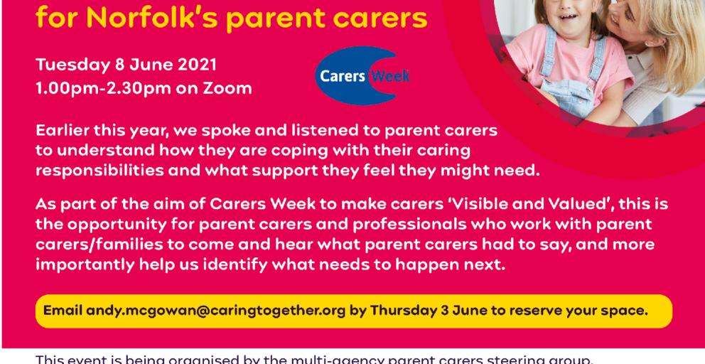 Norfolk Parent Carers Carers Week event