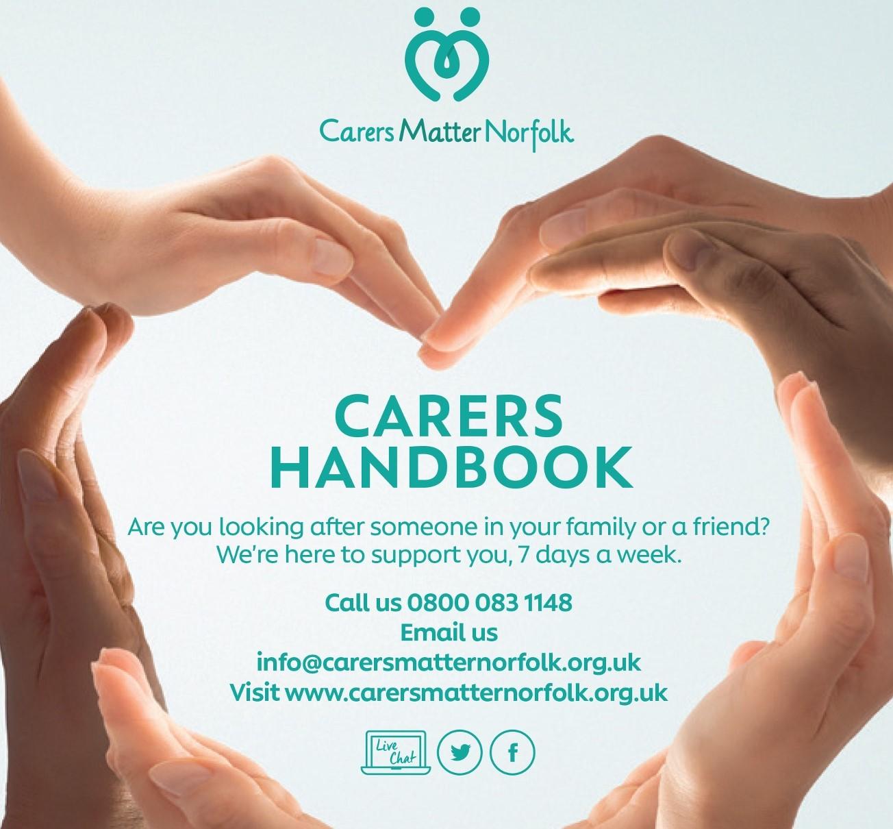 front cover - carers matter norfolk handbook