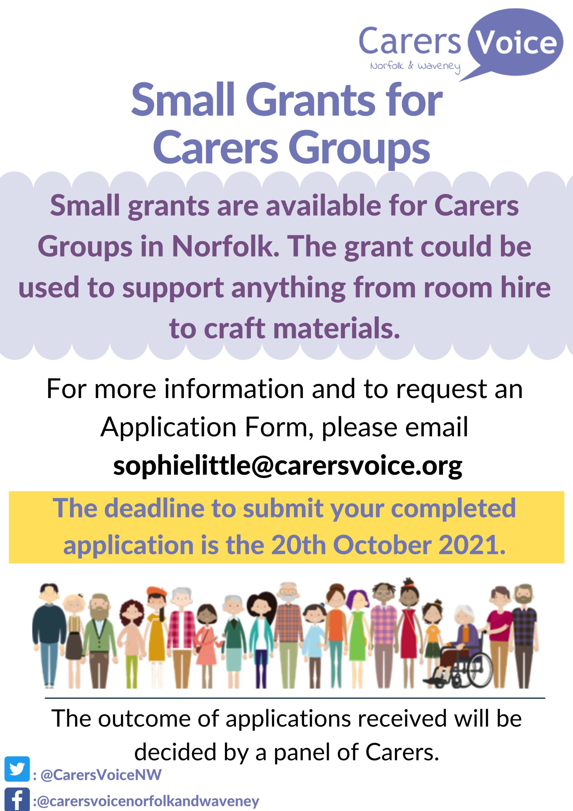 Small Group Grants for Carers